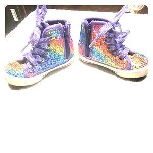 Rainbow size 6 baby shoes circo